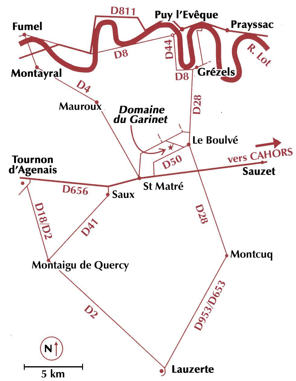 Map for Domaine du Garinet